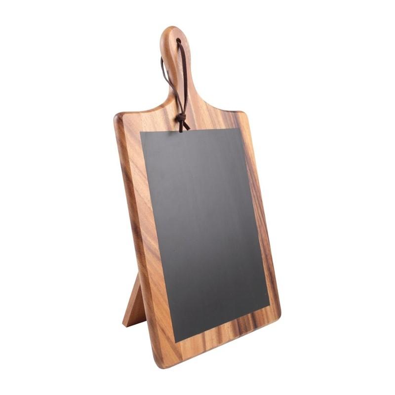 Planche en acacia et ardoise avec support T&G Woodware