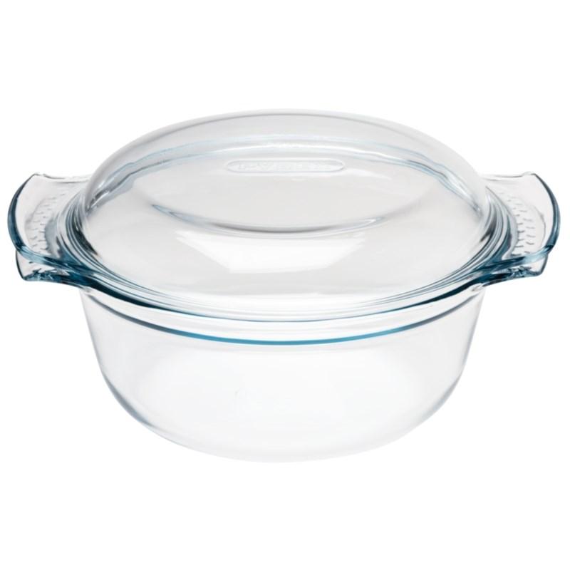 Cocotte ronde en verre Pyrex 3,5L