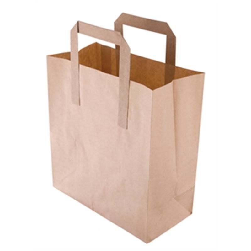 Sacs en papier recyclable marron 215 x 180mm