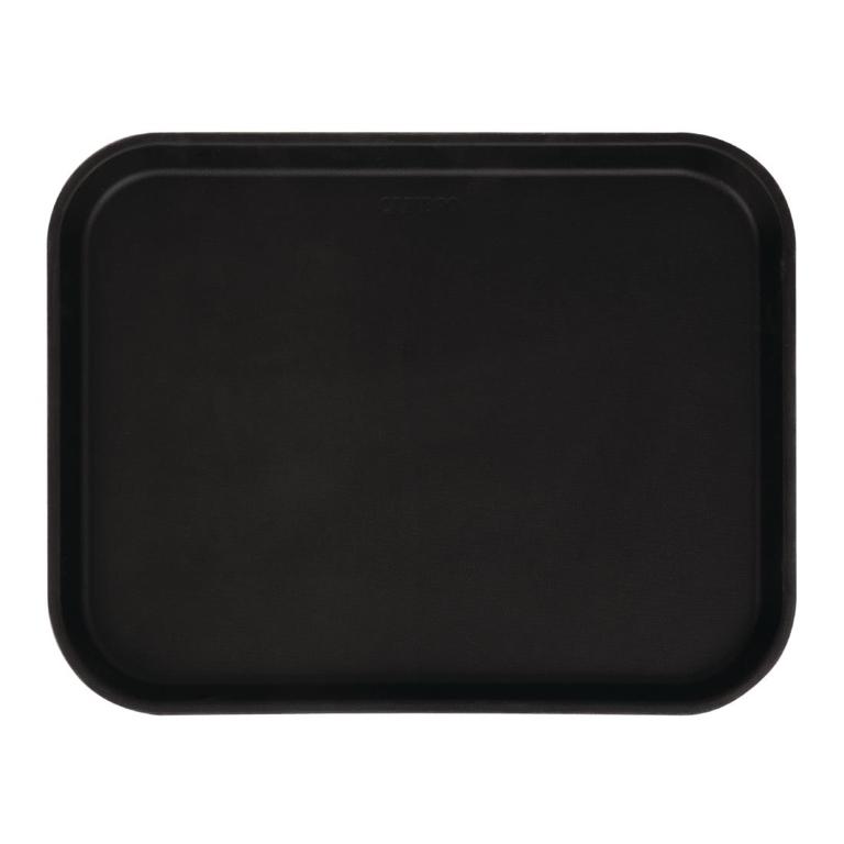 Plateau rectangulaire antidérapant en fibre de verre Camtread Cambro noir 45,7 cm