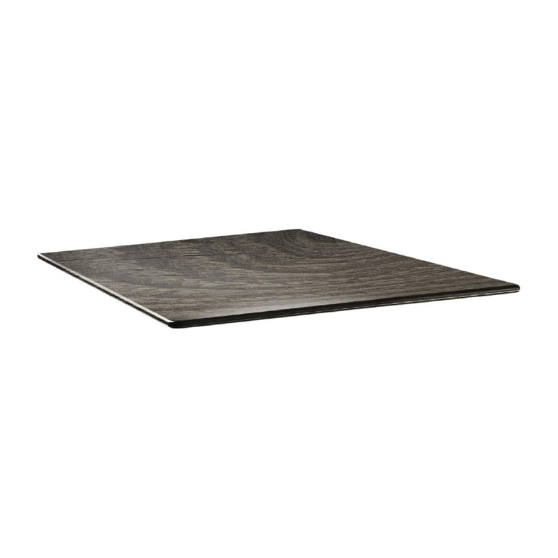 Plateau de table carré Topalit Smartline 70x70cm timber