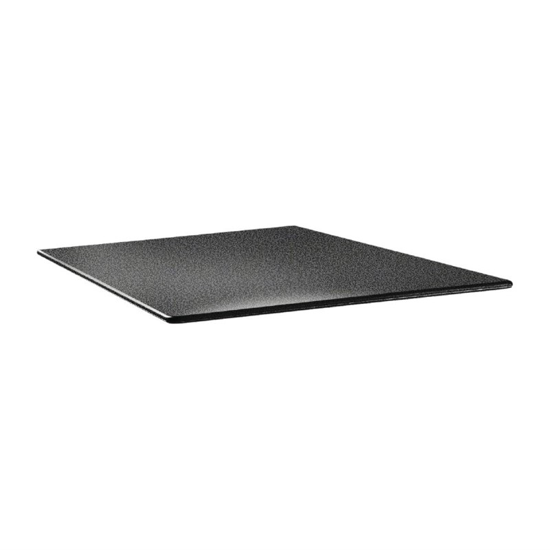 Plateau de table carré Topalit Smartline 70x70cm anthracite