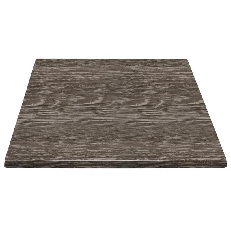 Plateau de table carré Bolero effet bois vieilli 600mm