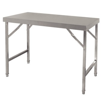 Tables pliantes inox 1200(l)x600(p)x900(h)mm