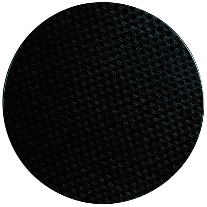 Plateau de table rond Werzalit rotin anthracite 800mm
