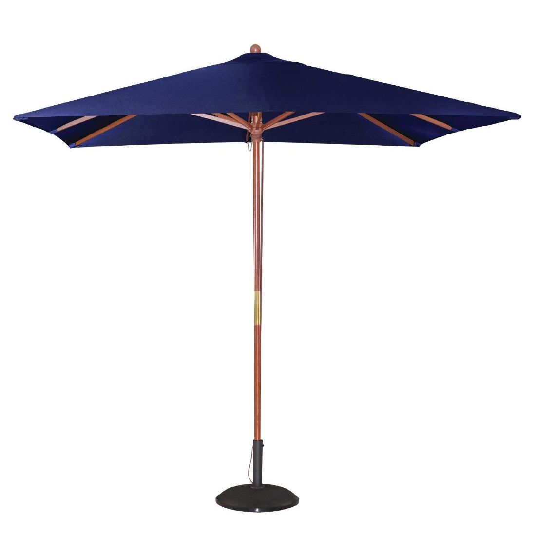 Parasol carré 2,5m bleu marine
