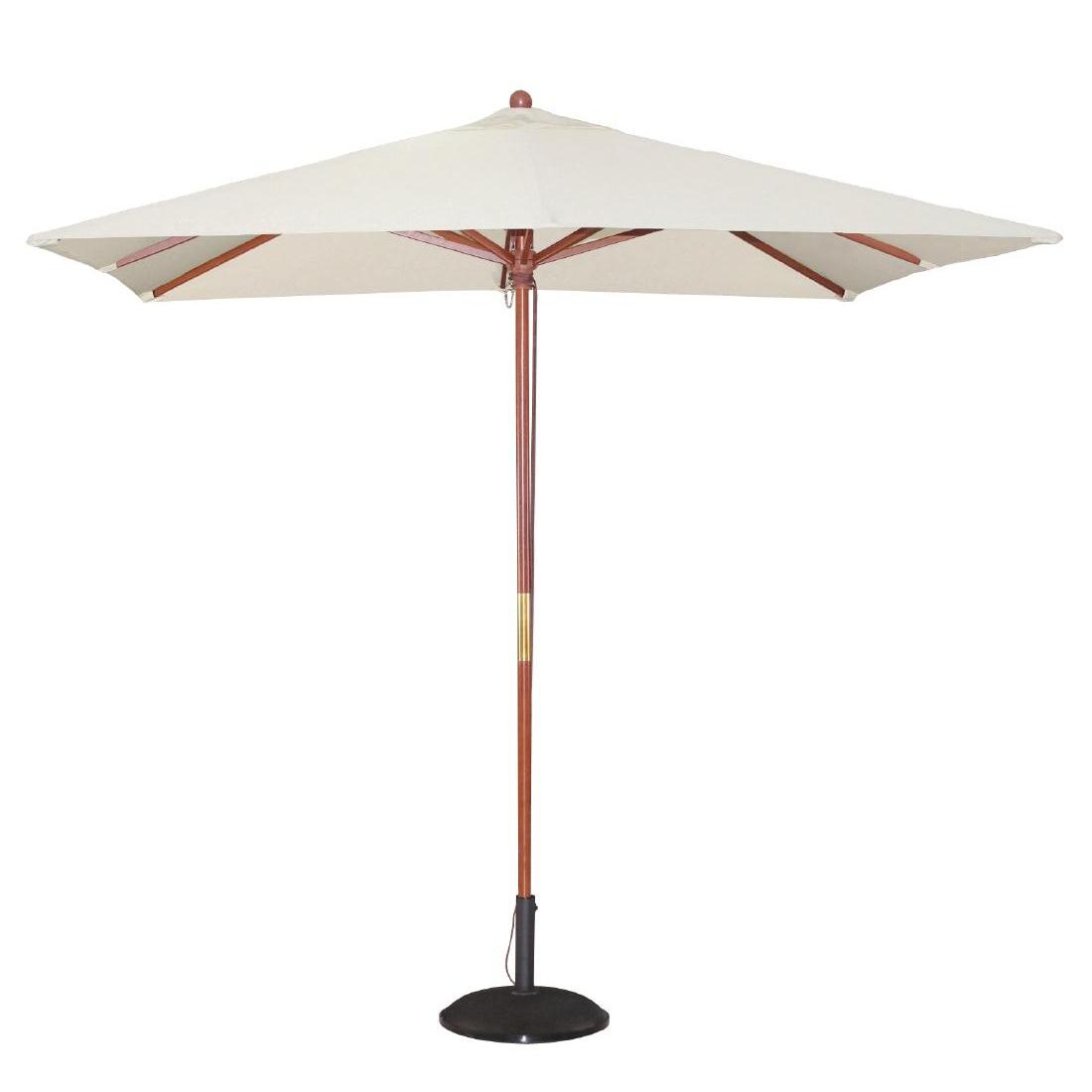 Parasol carré 2,5m écru