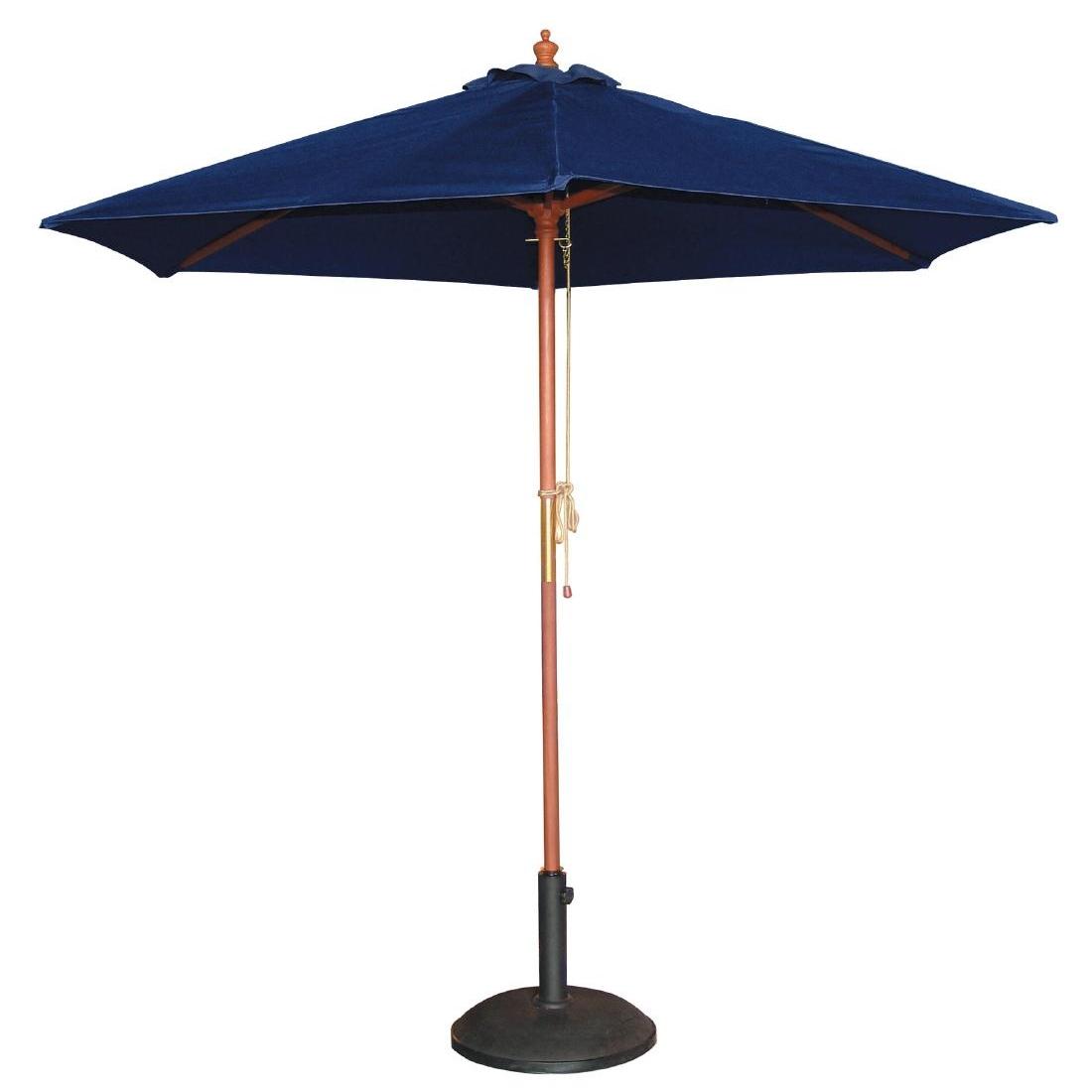 Parasol rond 2,5m bleu marine