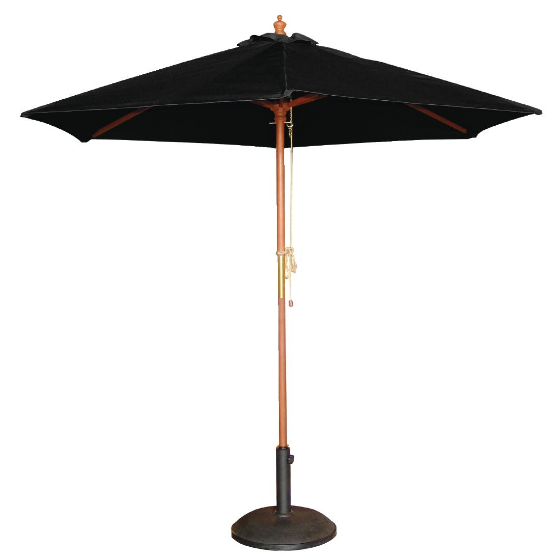 parasol rond 3m noir mobilier int rieur et ext rieur. Black Bedroom Furniture Sets. Home Design Ideas