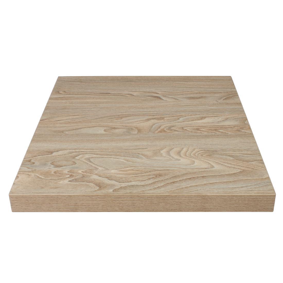 Plateau de table carré 700mm effet bois clair