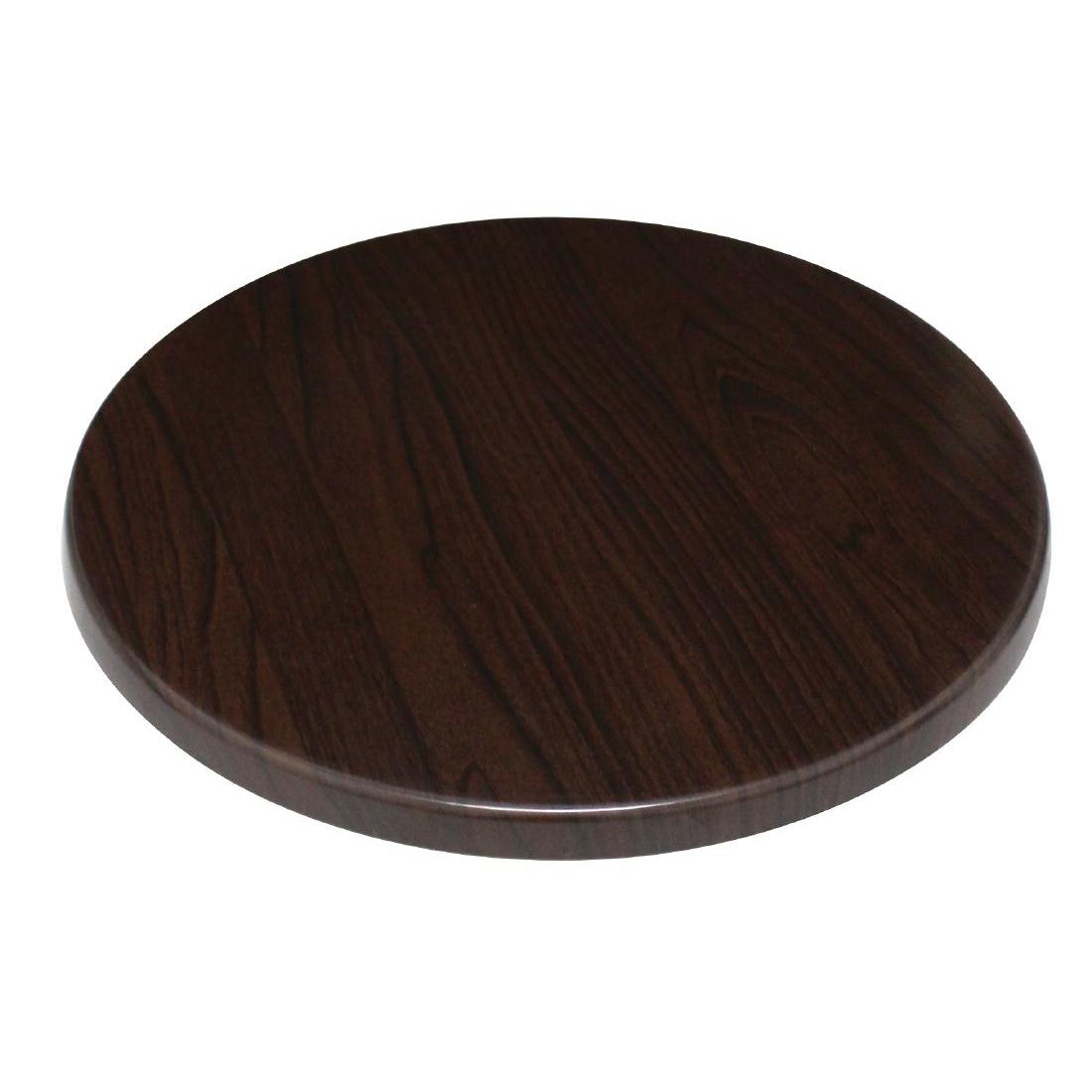 Plateau de table rond Bolero marron foncé 800mm