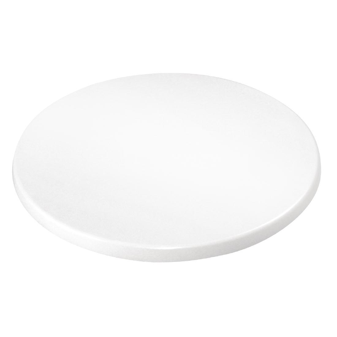 Plateau de table rond Bolero blanc 800mm