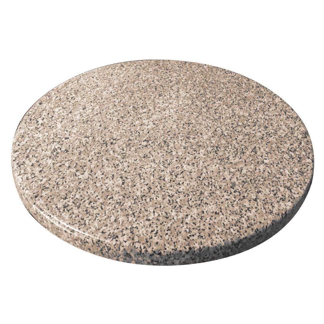 Plateau de table rond Bolero effet granit 600mm