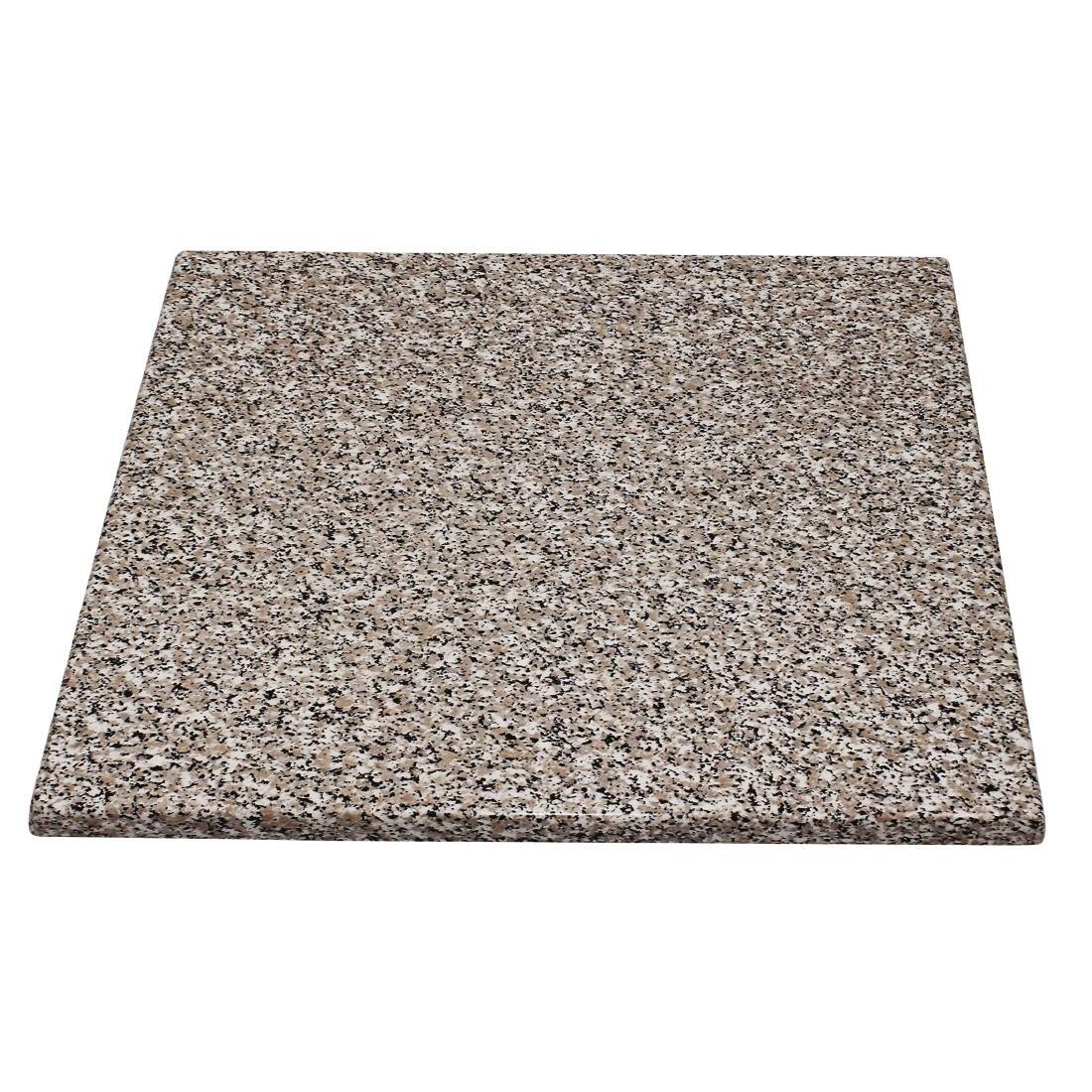 Plateau de table carré Bolero effet granit 600mm