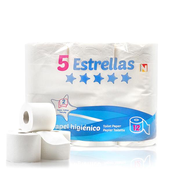 Papier Toilette 5 Estrellas (Pack de 12)