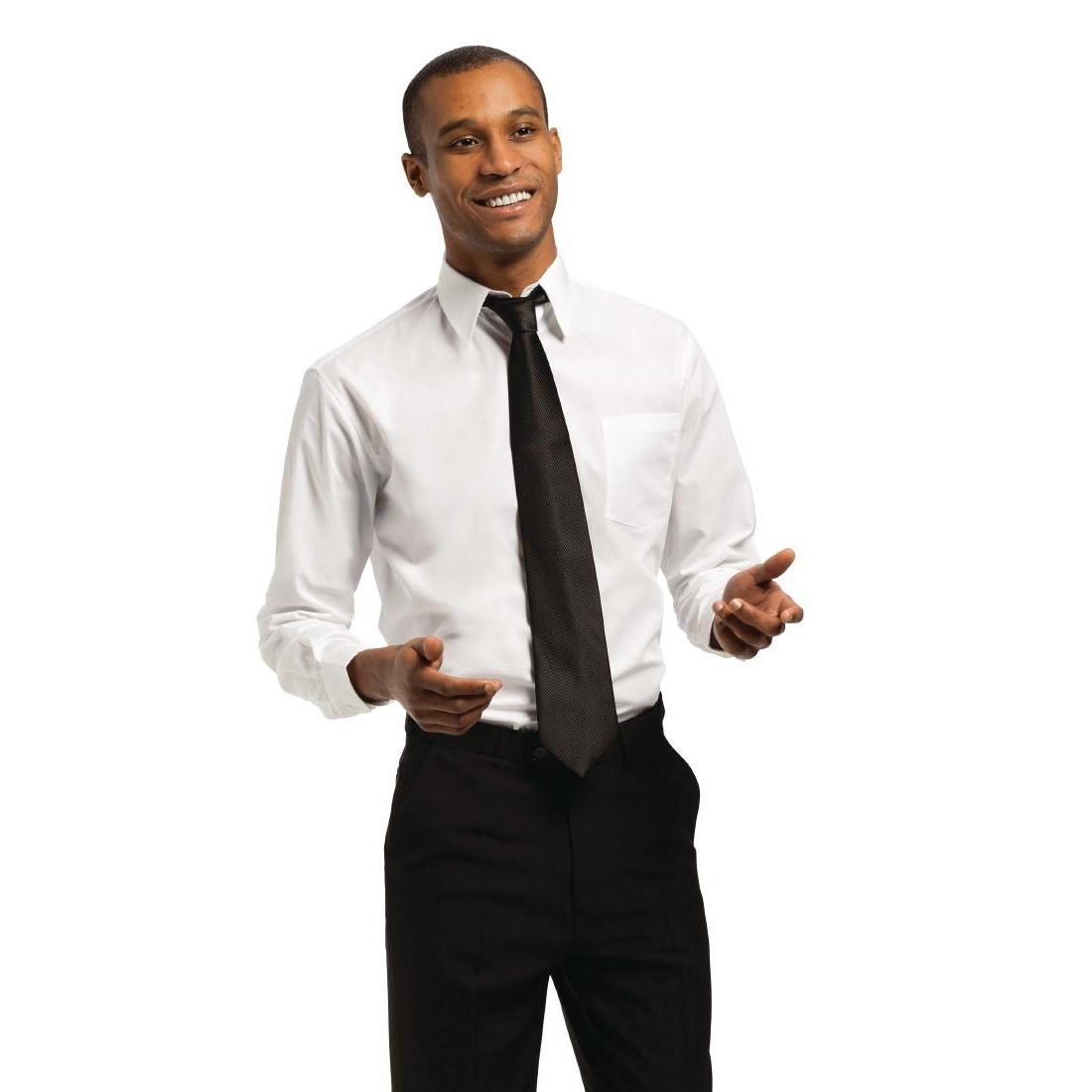 Chemise unisexe Uniform Works manches longues blanche SOLDES