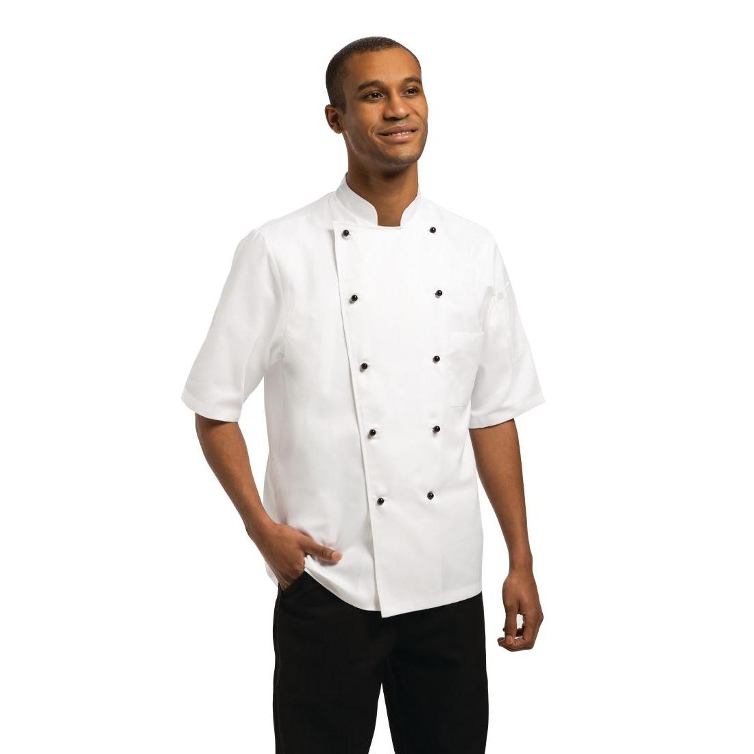 Veste chef unisexe Chef Works Marché manches courtes