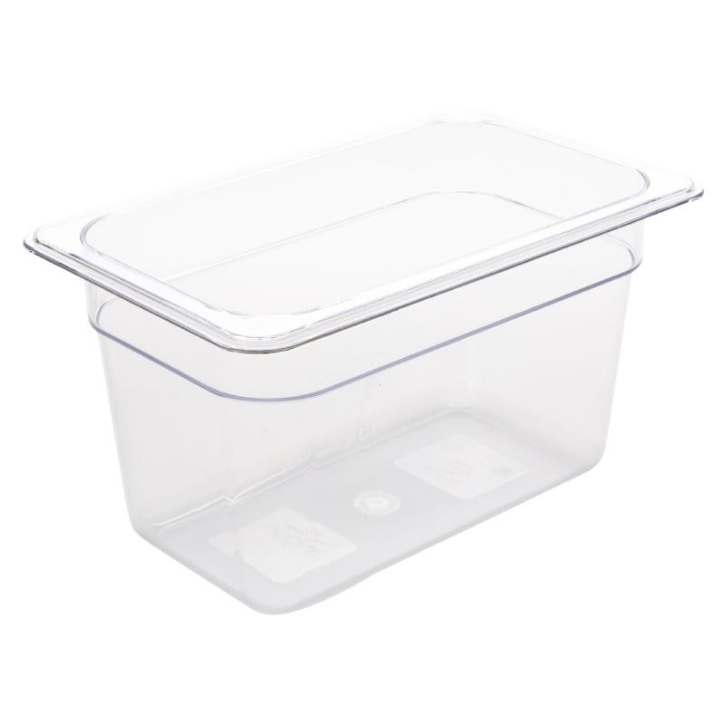 Bac Gastronorme en polycarbonate transparent un quart 150mm GN 1/4