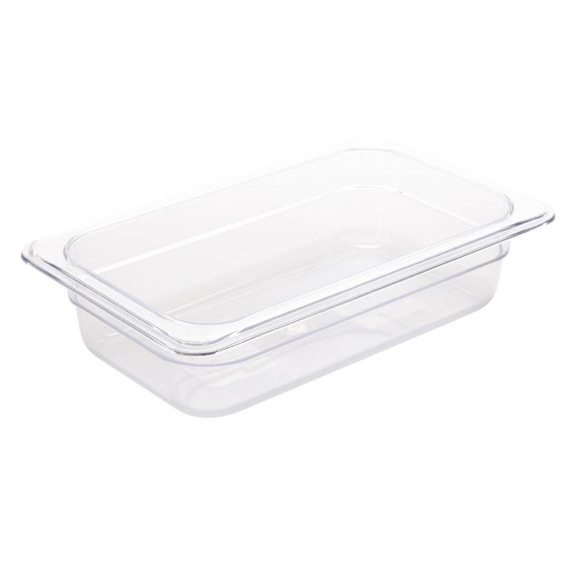 Bac Gastronorme en polycarbonate transparent un quart 65mm GN 1/4