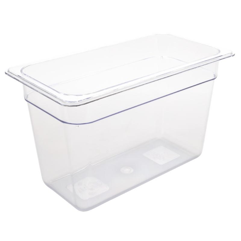 Bac Gastronorme en polycarbonate transparent un tiers 200mm GN 1/3