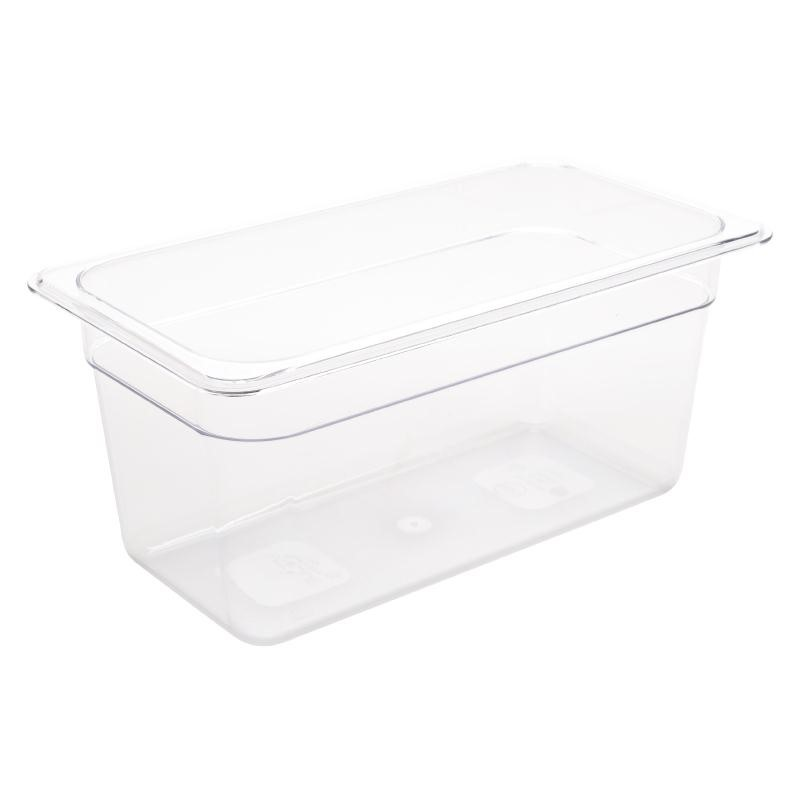Bac Gastronorme en polycarbonate transparent un tiers 150mm GN 1/3