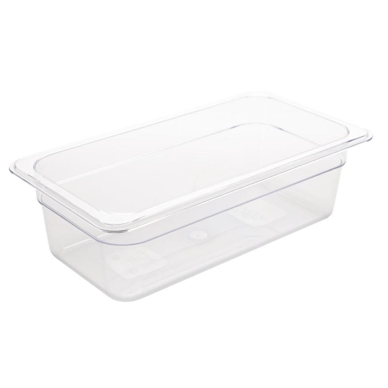 Bac Gastronorme en polycarbonate transparent un tiers 100mm GN 1/3