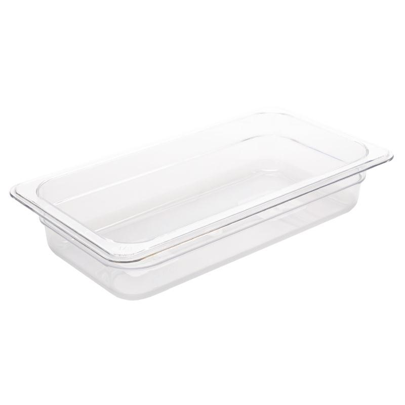 Bac Gastronorme en polycarbonate transparent un tiers 65mm GN 1/3