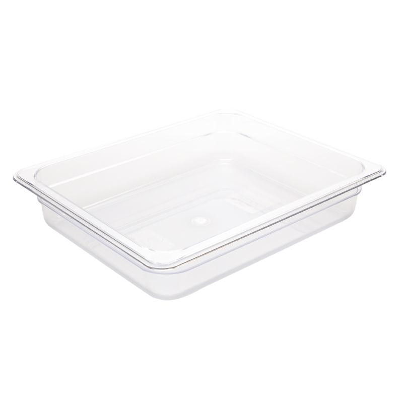 Bac Gastronorme en polycarbonate transparent un demi 65mm GN 1/2