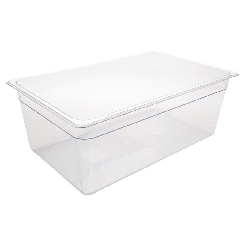 Bac Gastronorme en polycarbonate transparent 200mm GN 1/1