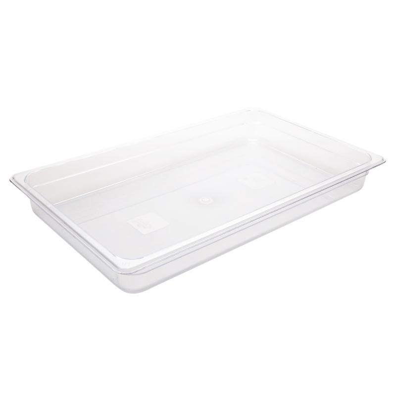 Bac Gastronorme en polycarbonate transparent 65mm GN 1/1