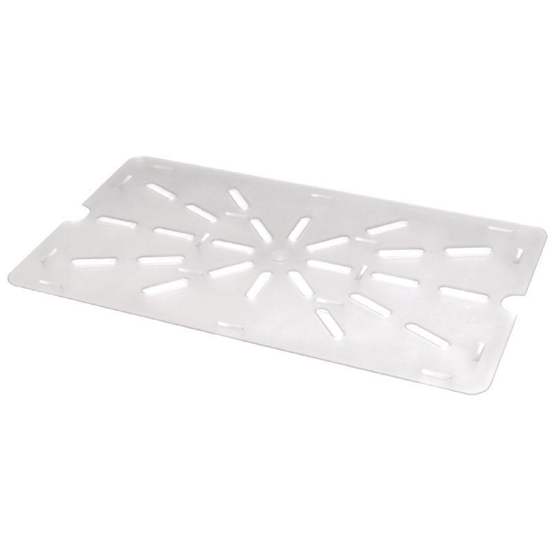 Plaques égouttoir pour bac Gastronorme en polycarbonate GN 1/1