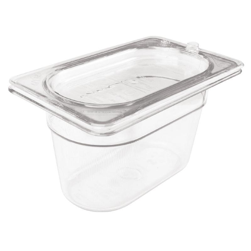 Bac Gastronorme en polycarbonate transparent un neuvième 65mm Rubbermaid