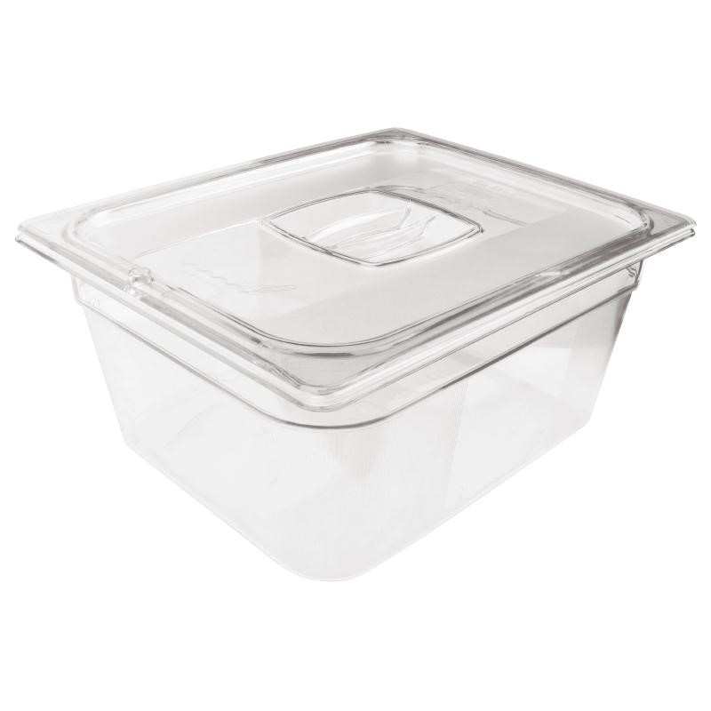 Bac Gastronorme en polycarbonate transparent un demi 200mm Rubbermaid