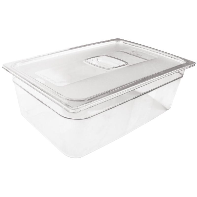 Bac Gastronorme en polycarbonate transparent taille standard 150mm Rubbermaid