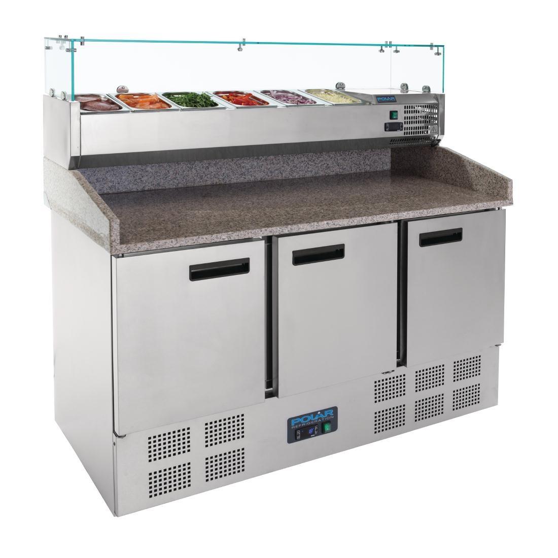 Comptoir réfrigéré de préparation pizzas et salades 368L Polar