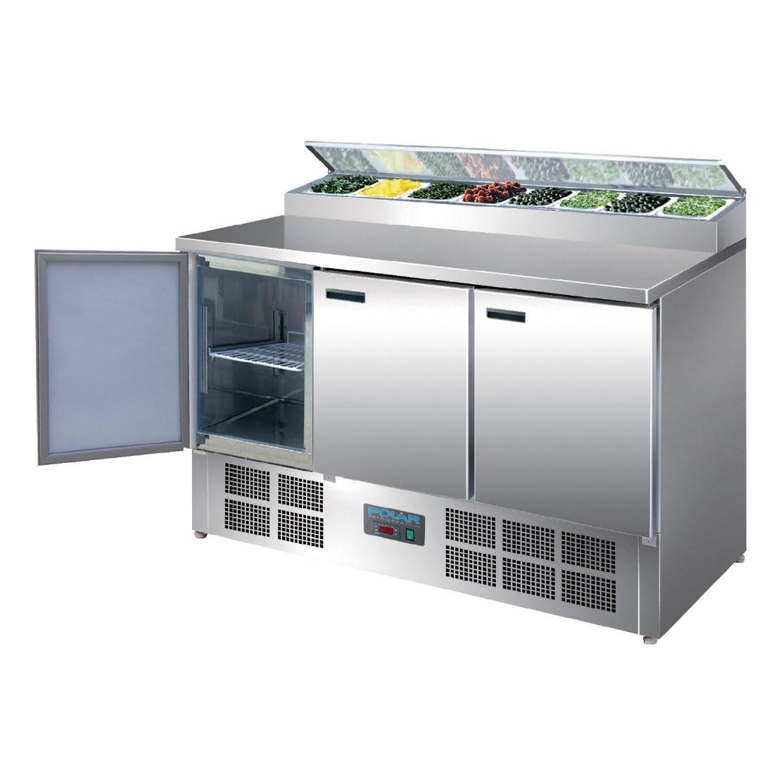 Comptoir de préparation réfrigéré saladette pizzas et salades 390L