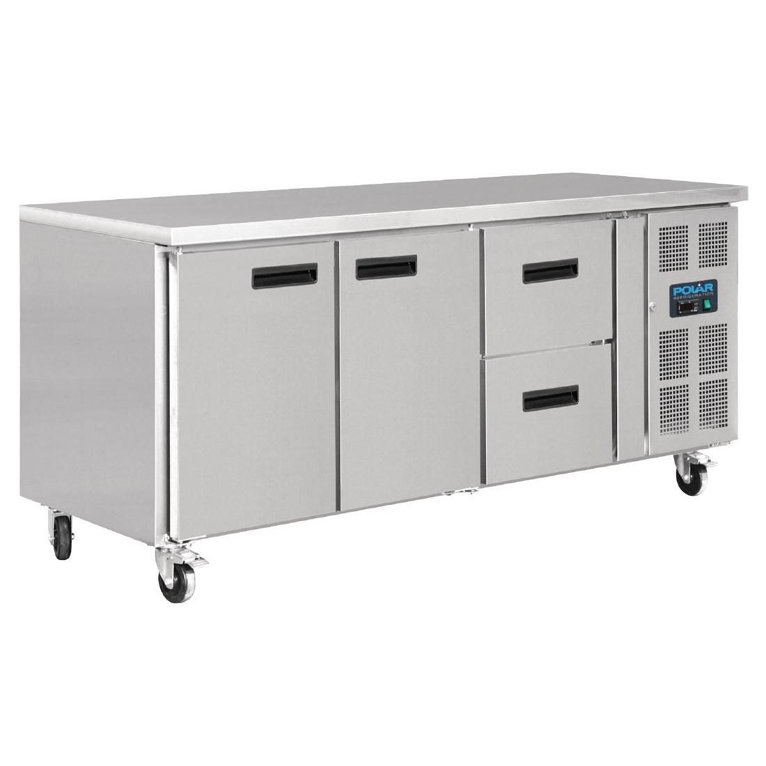 Table réfrigérée 2 portes 2 tiroirs 417L