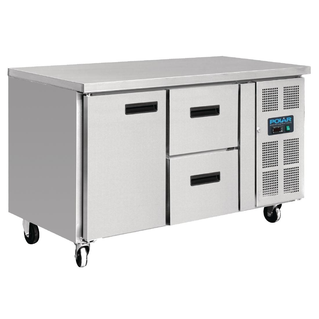 Table réfrigérée 1 porte 2 tiroirs 228L