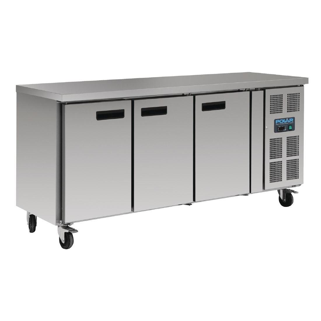 Table réfrigérée positive 3 portes 417L