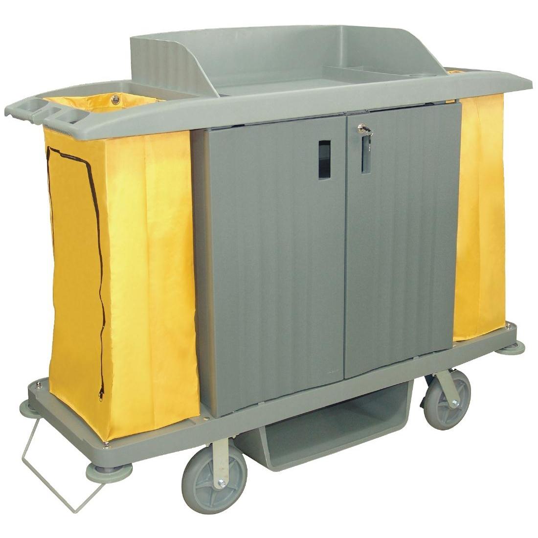 Chariot de nettoyage avec portes