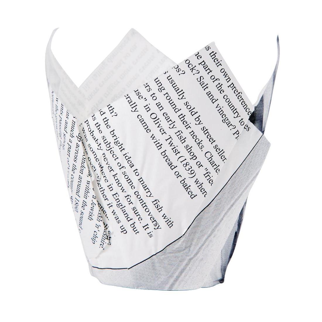 Cornet à frites motif papier journal
