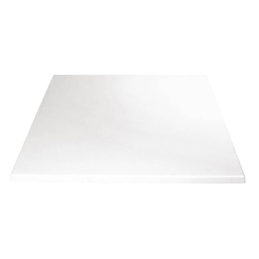 Plateau de table carré Bolero blanc 600mm