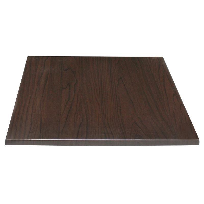 Plateau de table carré marron foncé 700mm