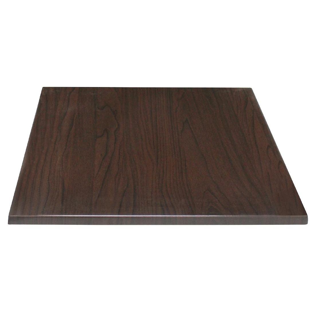 Plateau de table carré marron foncé 600mm
