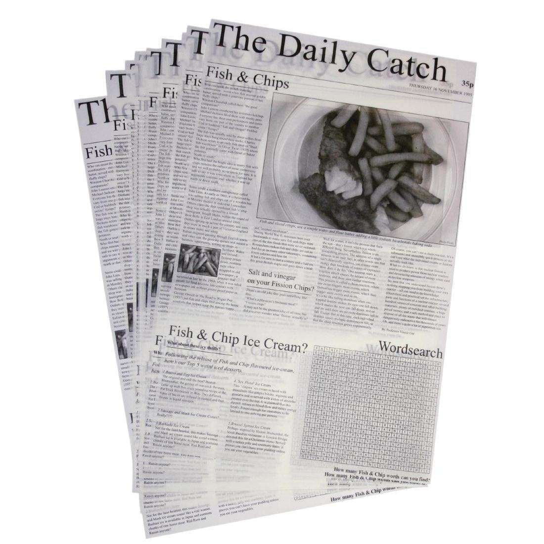 Carrés de papier sulfurisé avec imprimé journal par 500
