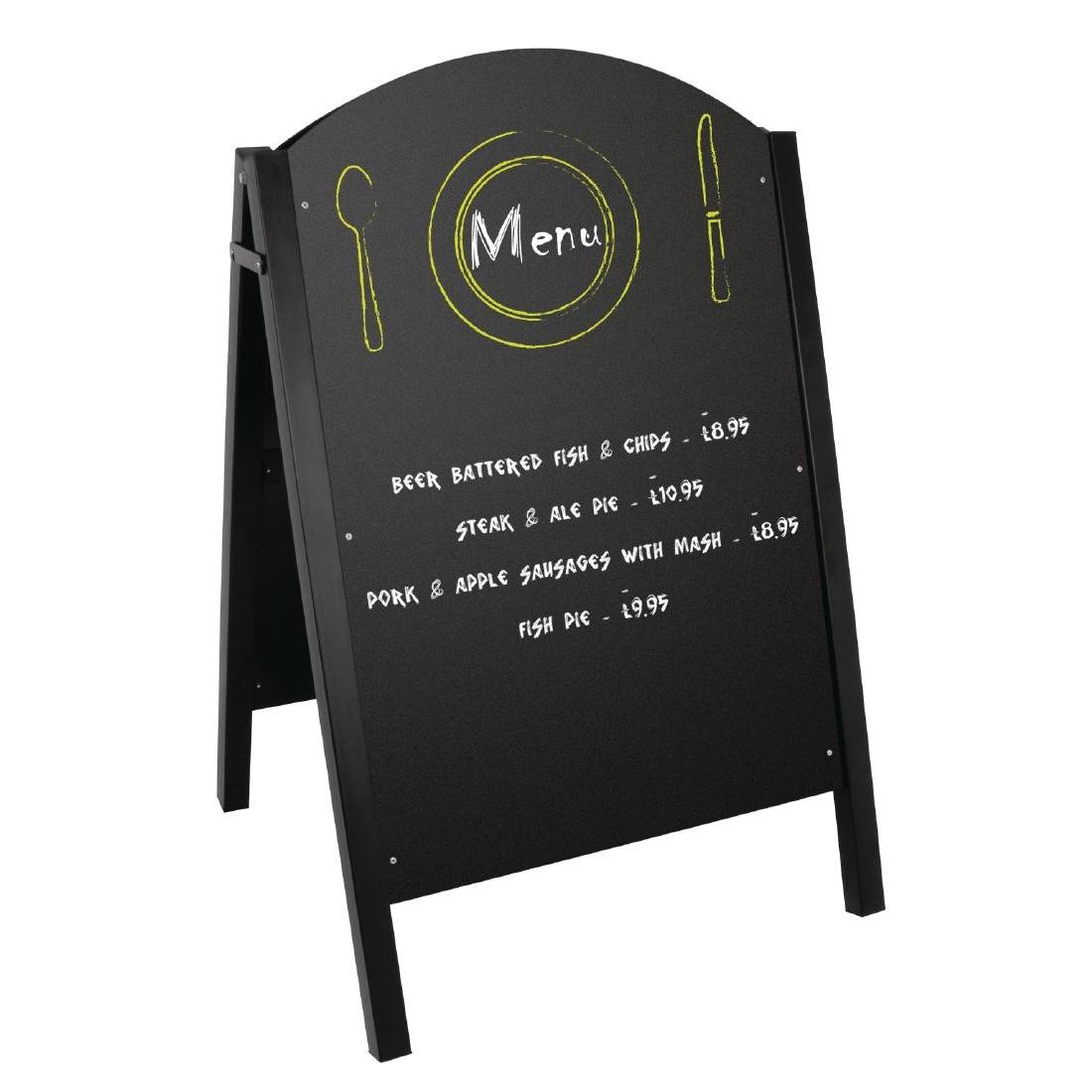 Panneau de trottoir noir structure métallique 1025(H) x 675(L) x 660(P)mm