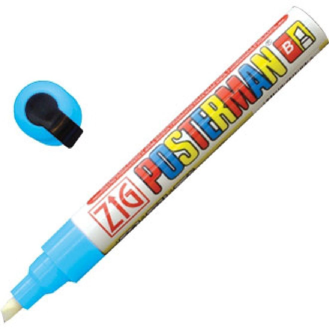 Marqueur craie tous temps Securit Zig Posterman 6mm bleu clair
