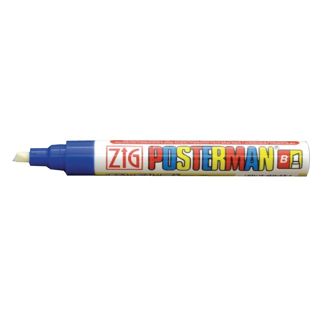 Marqueur craie tous temps Securit Zig Posterman 6mm bleu