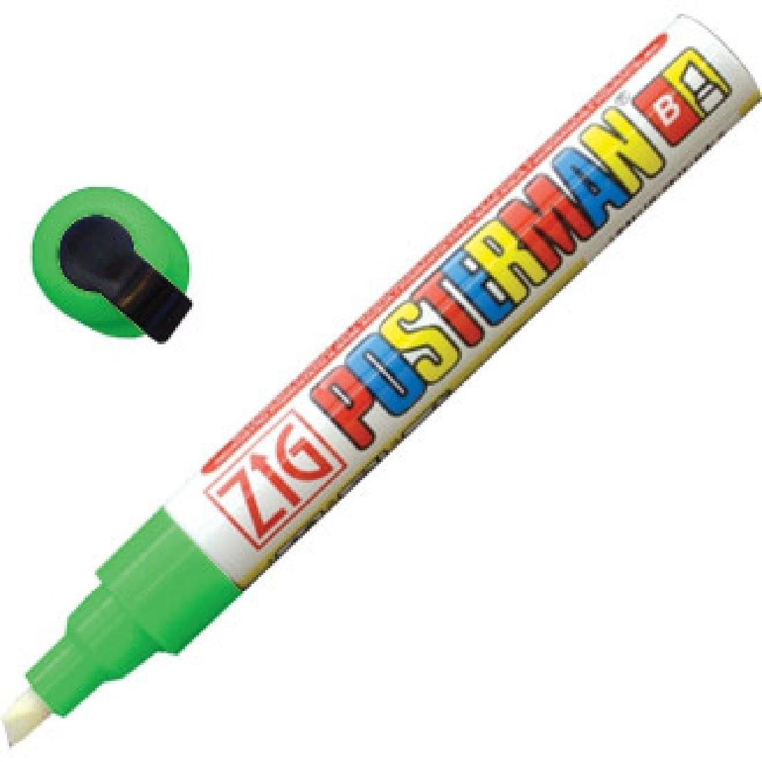 Marqueur craie tous temps Securit Zig Posterman 6mm vert
