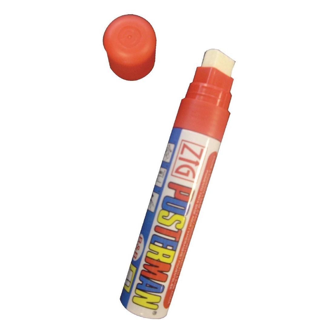 Marqueur craie tous temps Securit Zig Posterman 6mm rouge